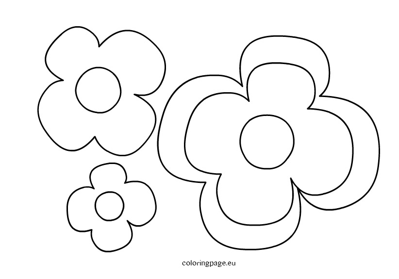 Flower Coloring Pages Printable Templates
