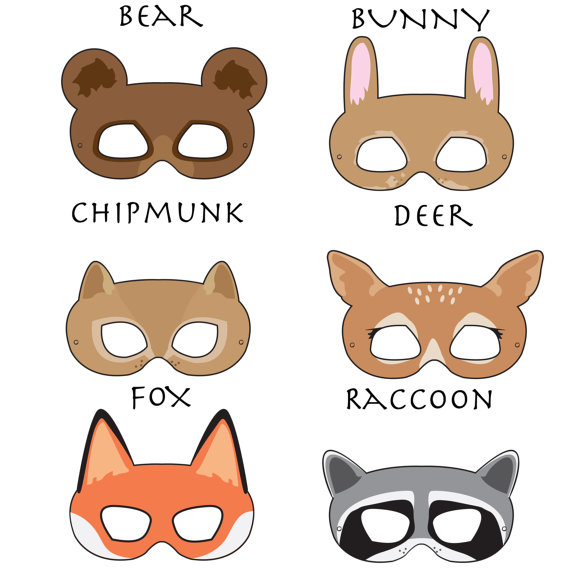6 Images of Free Woodland Animal Mask Printables