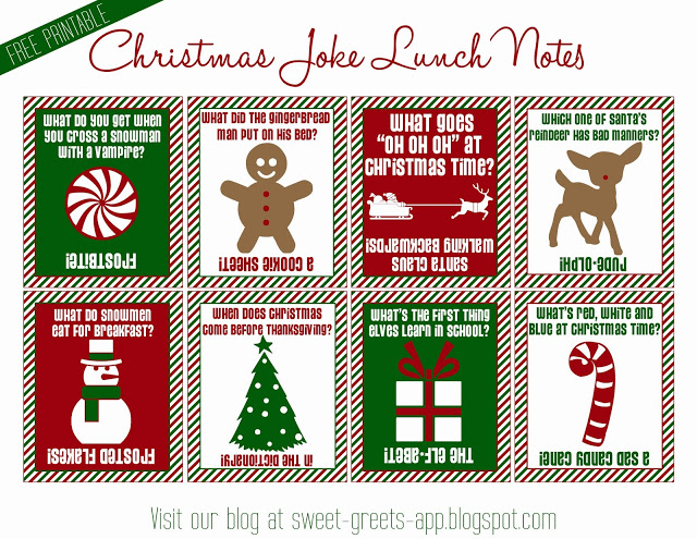 8 Images of Free Christmas Lunch Box Printables