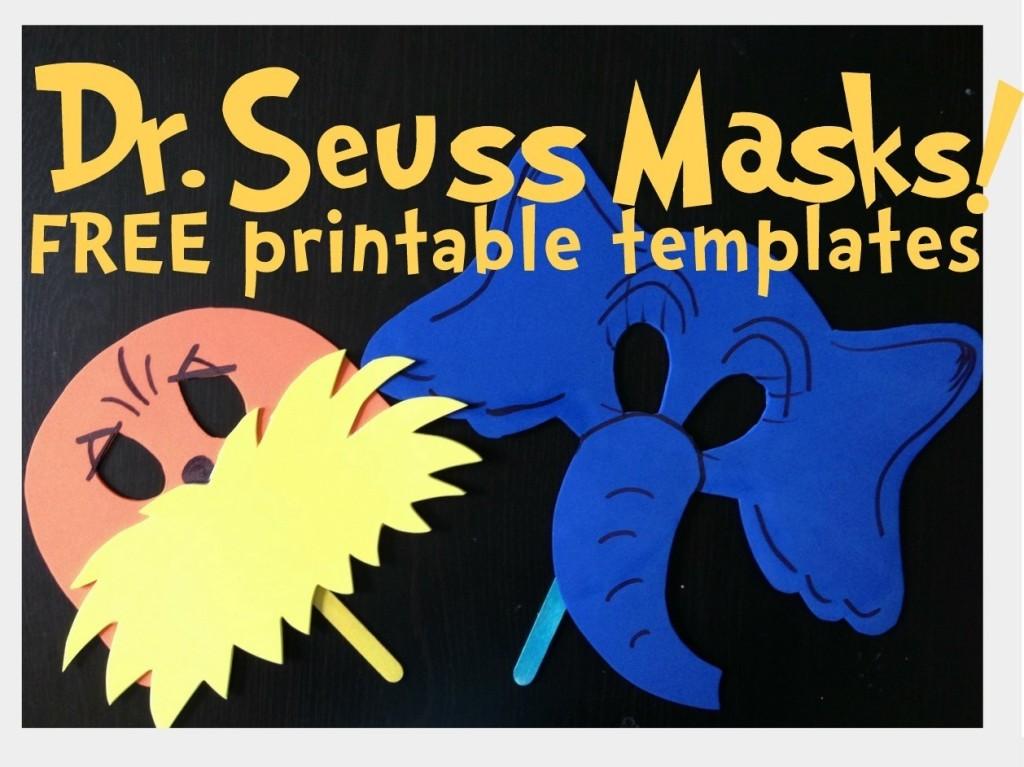 Free Dr. Seuss Printable Mask Templates