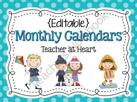 free downloadable calendars