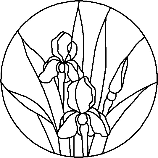 5 Images of Free Printable Stained Glass Flower Patterns