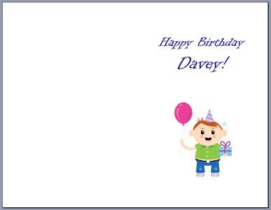 Free Half-Fold Birthday Card Template