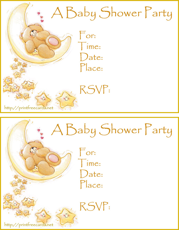 5 Images of Free Printable Baby Shower Invitation Cards