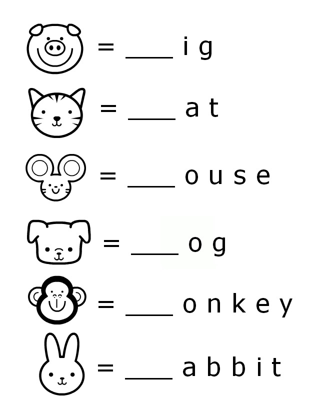 Free Printable Worksheet For Kindergarten English Templates and – Kindergarten Worksheets English