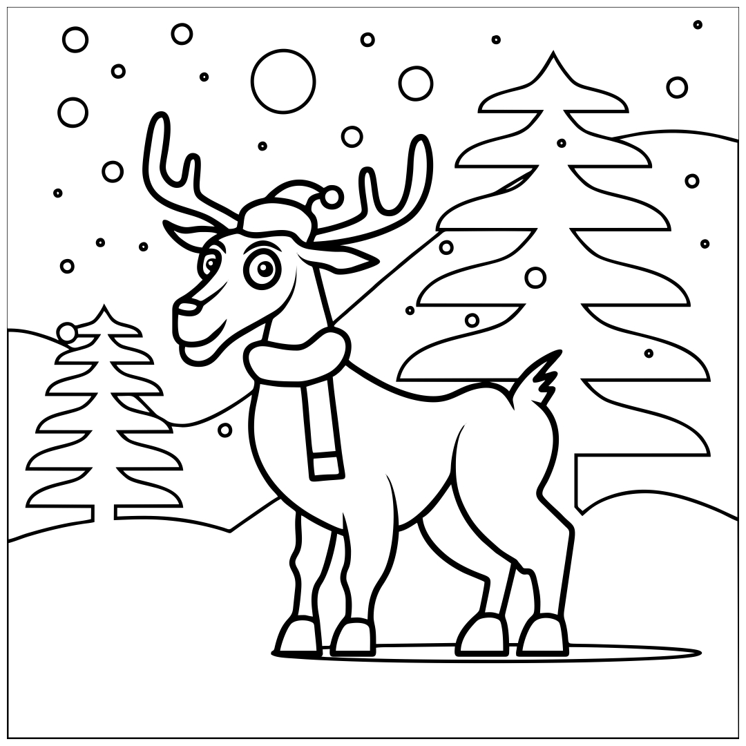 4 Images of Printable Christmas Coloring Book Pages
