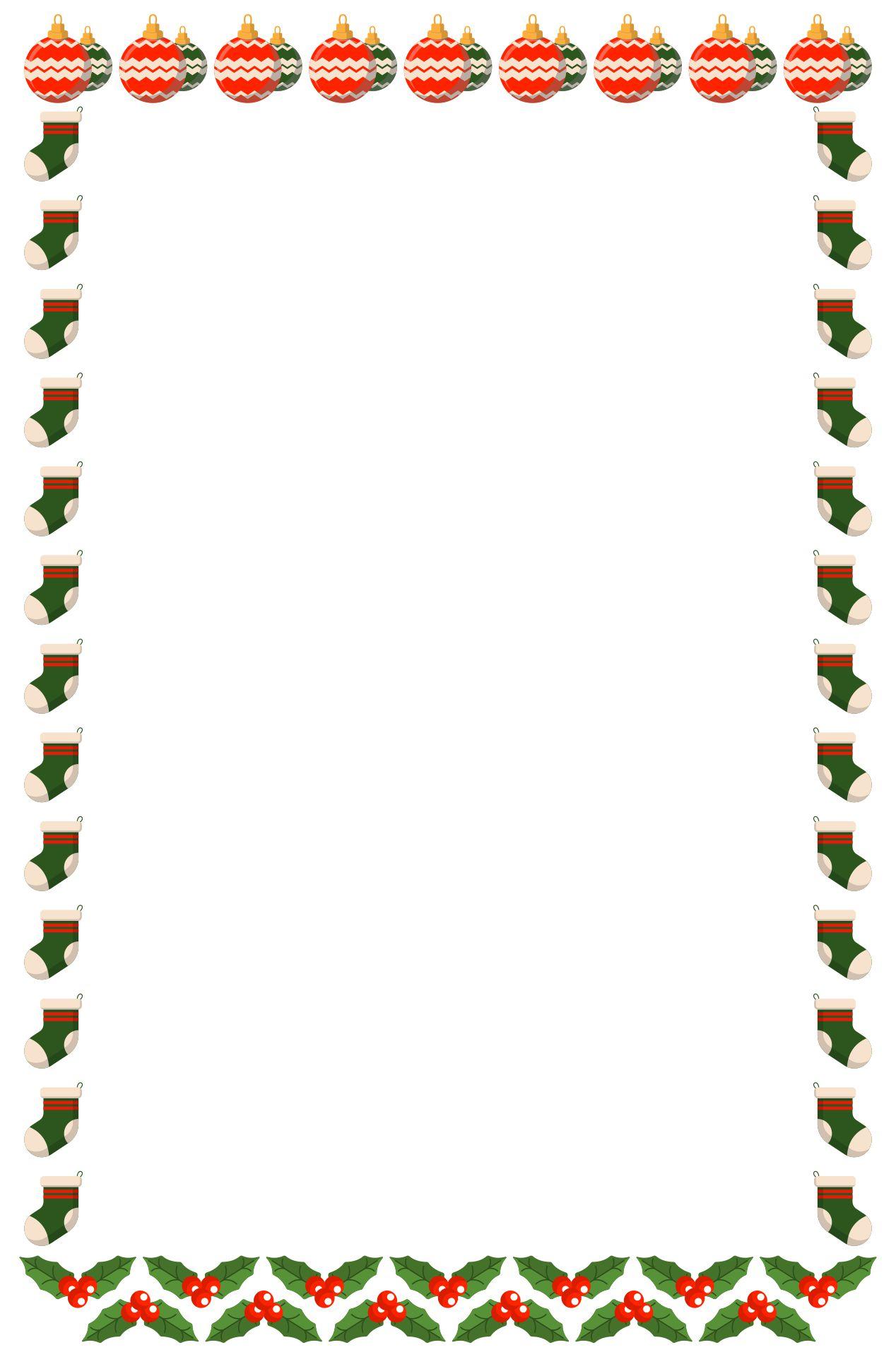 Printable Christmas Letterhead Templates