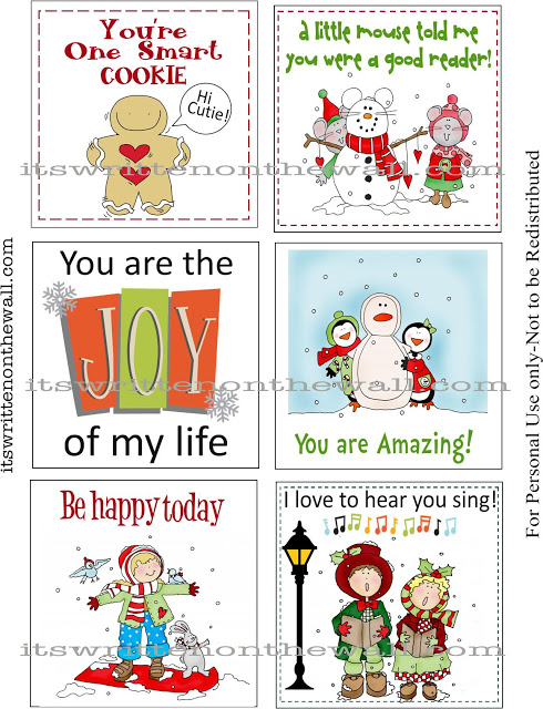 Free Printable Christmas Lunch Box Notes