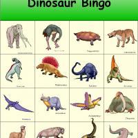 4 Images of Free Printable Dinosaur Bingo