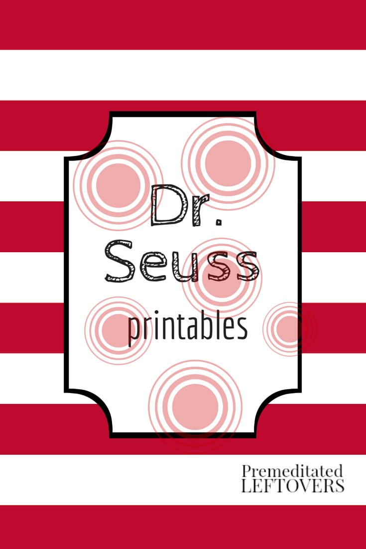 Free Printable Dr. Seuss Crafts