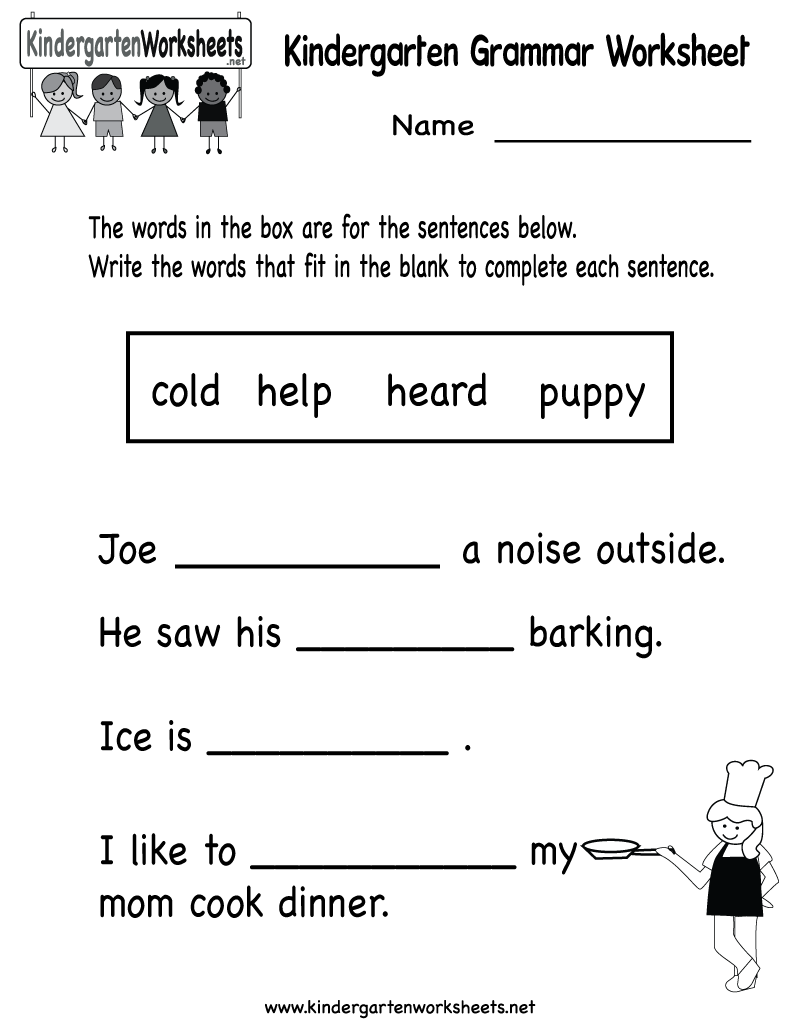 Worksheets Worksheet For Kindergarten Reading kindergarten reading level worksheets 8 best images of free preschool printables kindergarten