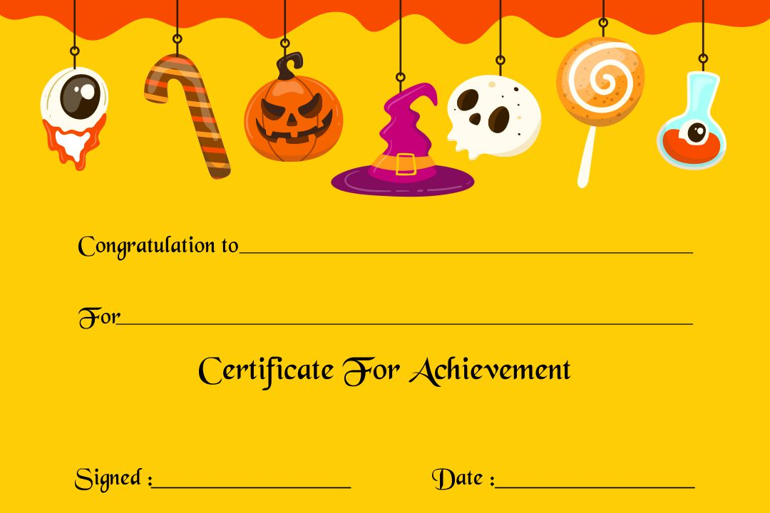 Printable Halloween Award Certificates