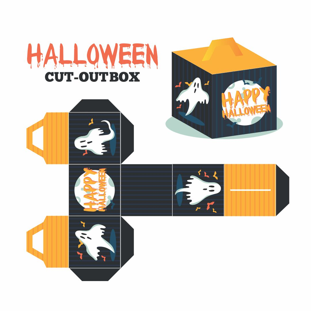 6 Images of Printable Halloween Cupcake Boxes