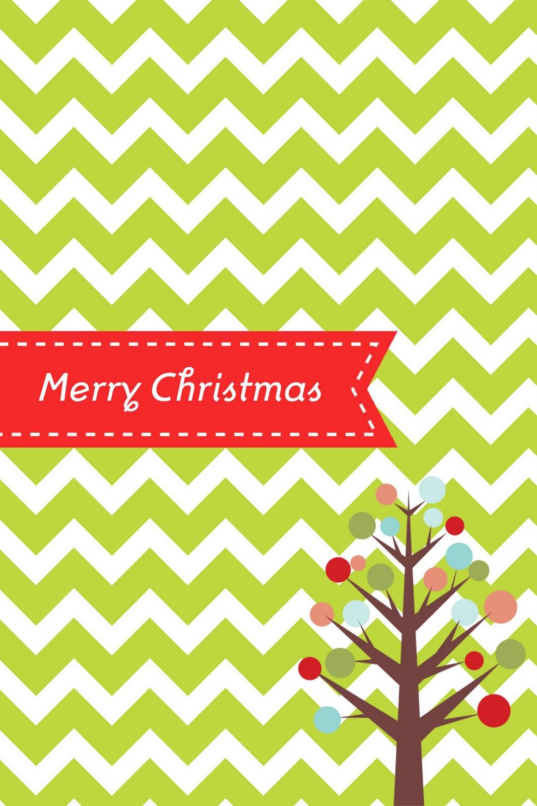 7 Images of Free Printable Chevron Christmas