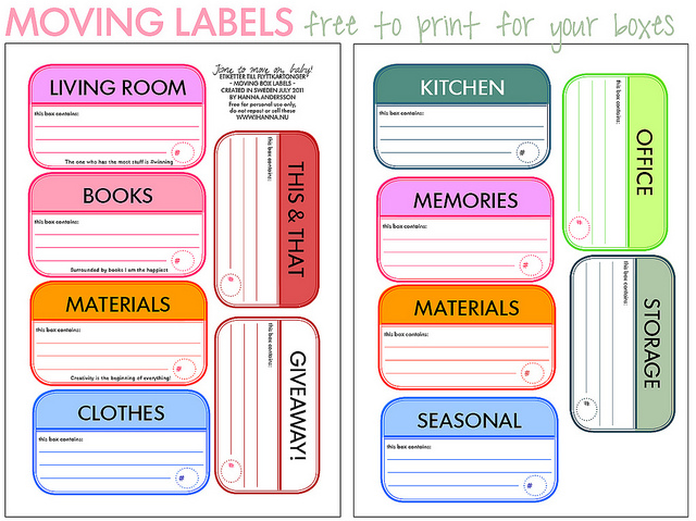 7 Best Images Of Printable Moving Box Labels Free