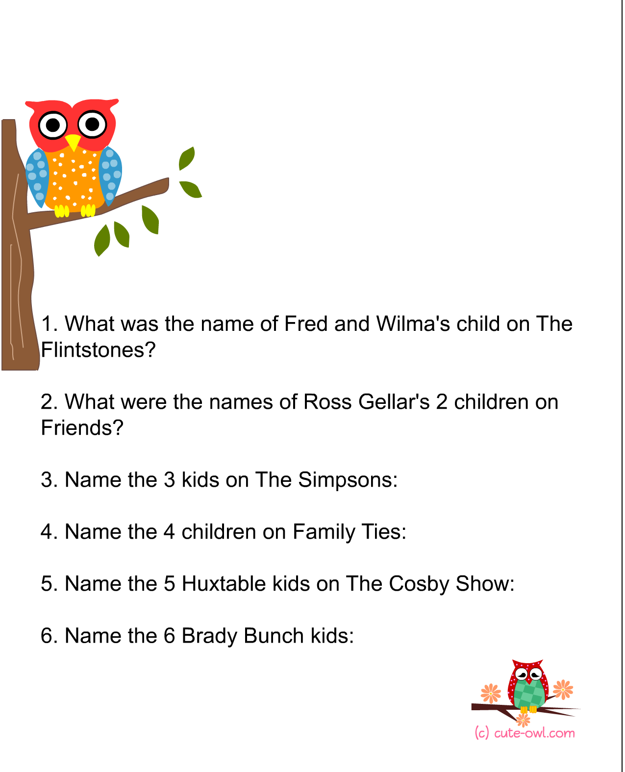 7 Images of Owl Printable Baby Games