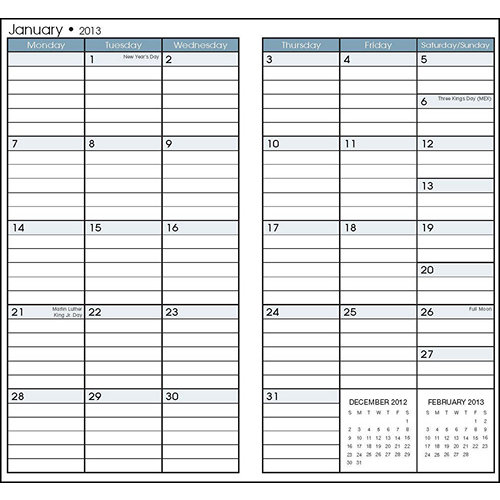 6 Images of Free Printable 2013 Pocket Calendar