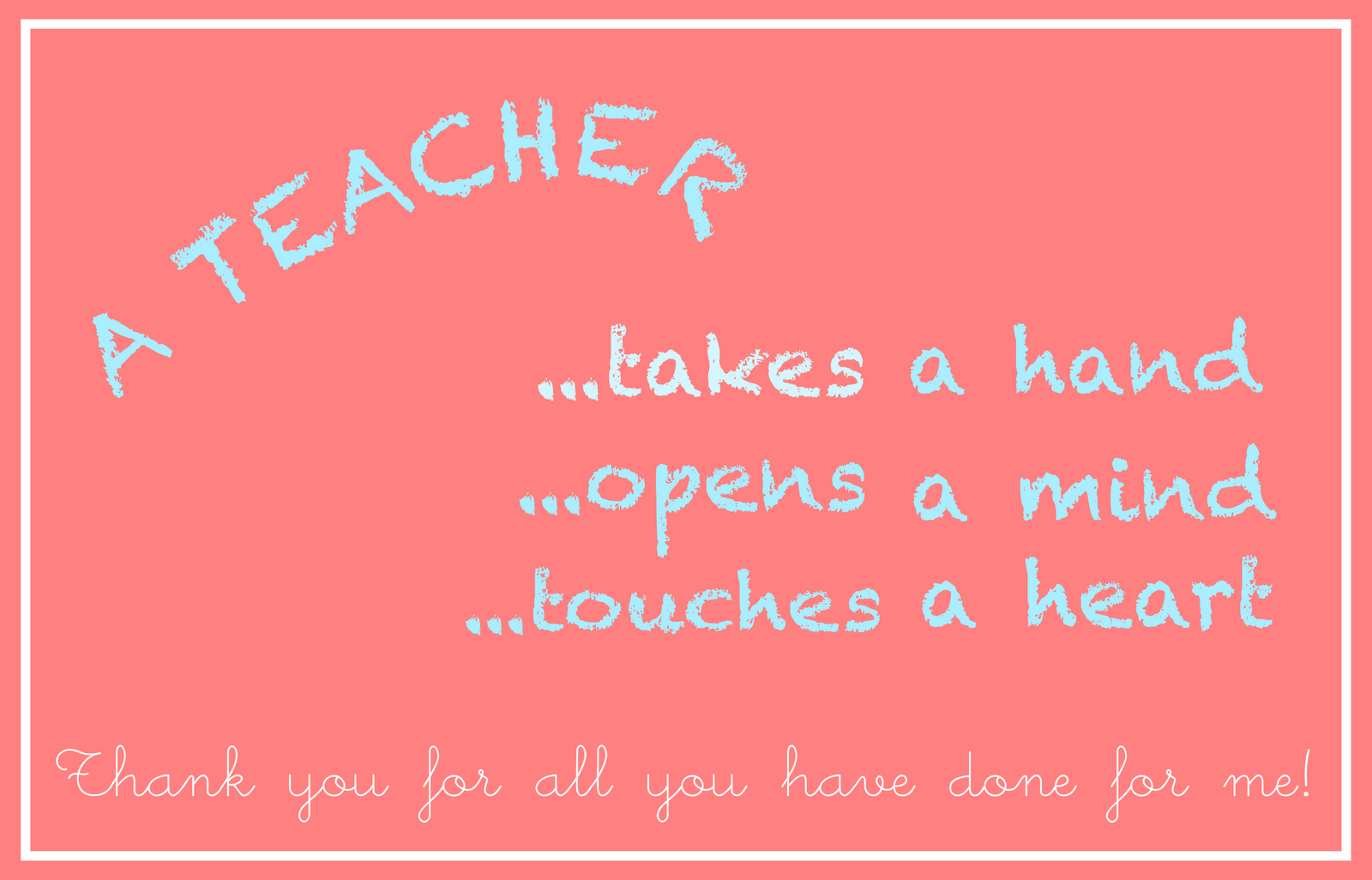 7 Images of Printable Thank Cards For Teachers