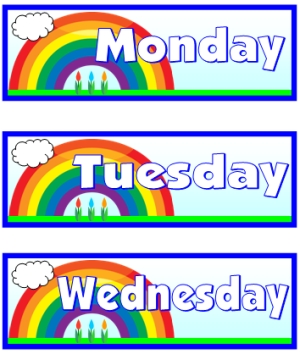 5 Images of Printable Days Of The Week Templates