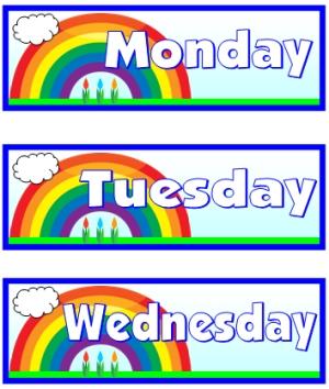 Number Names Worksheets days of the week printable : 5 Best Images of Printable Days Of The Week Templates - Free ...