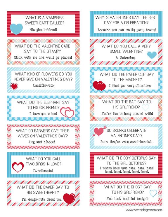 Free Printable Valentine Lunch Box Jokes