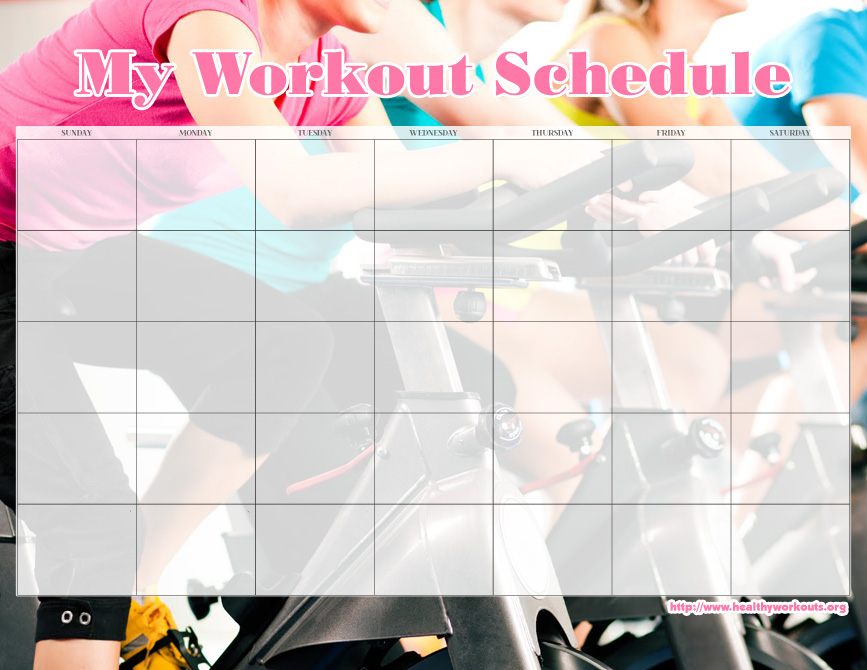 7 best images of 2016 calendar printable workout free for Exercise calendar template free