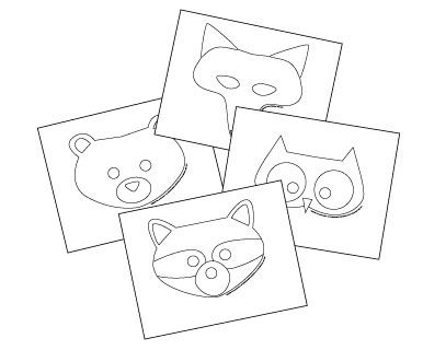 woodland animal masks template - 6 best images of free woodland animal mask printables