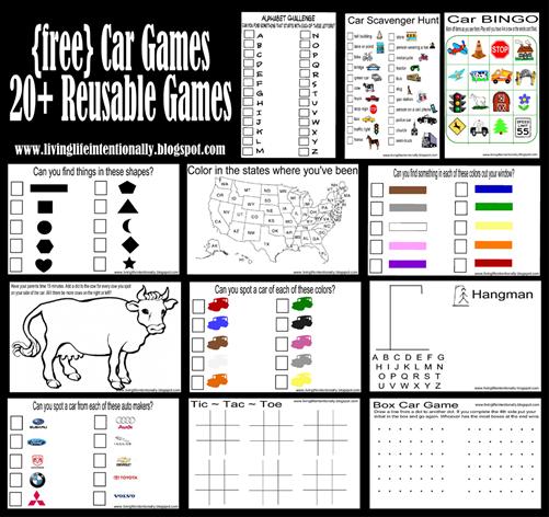 6 Images of Free Printable Road Trip Games