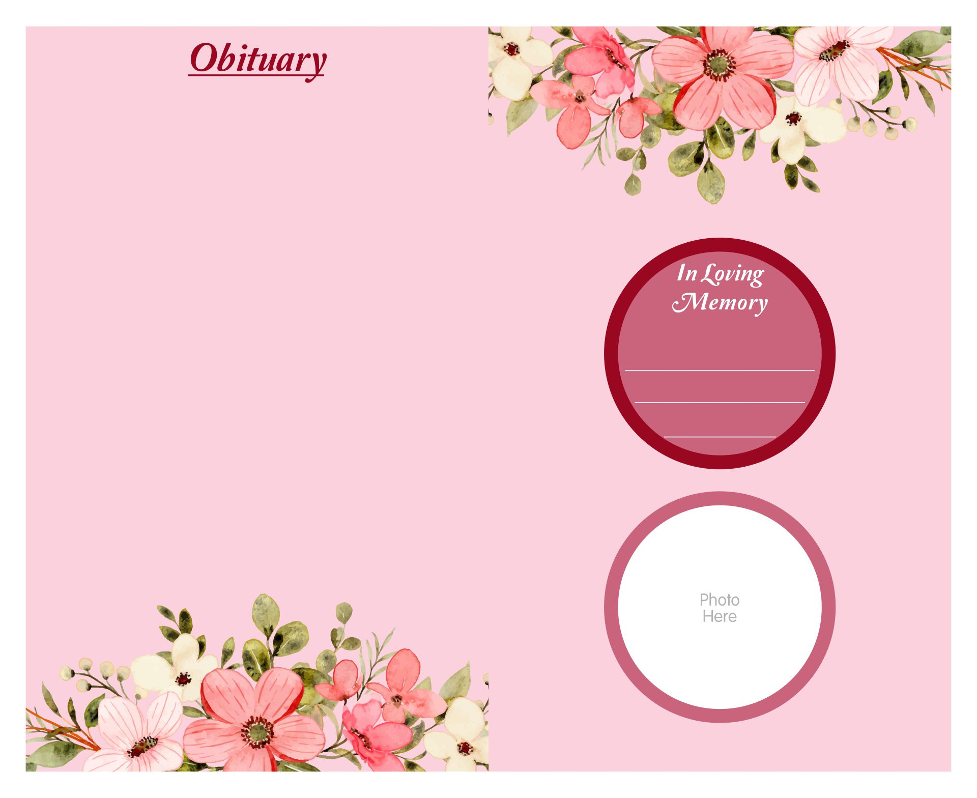 7 Images of Printable Funeral Program Templates