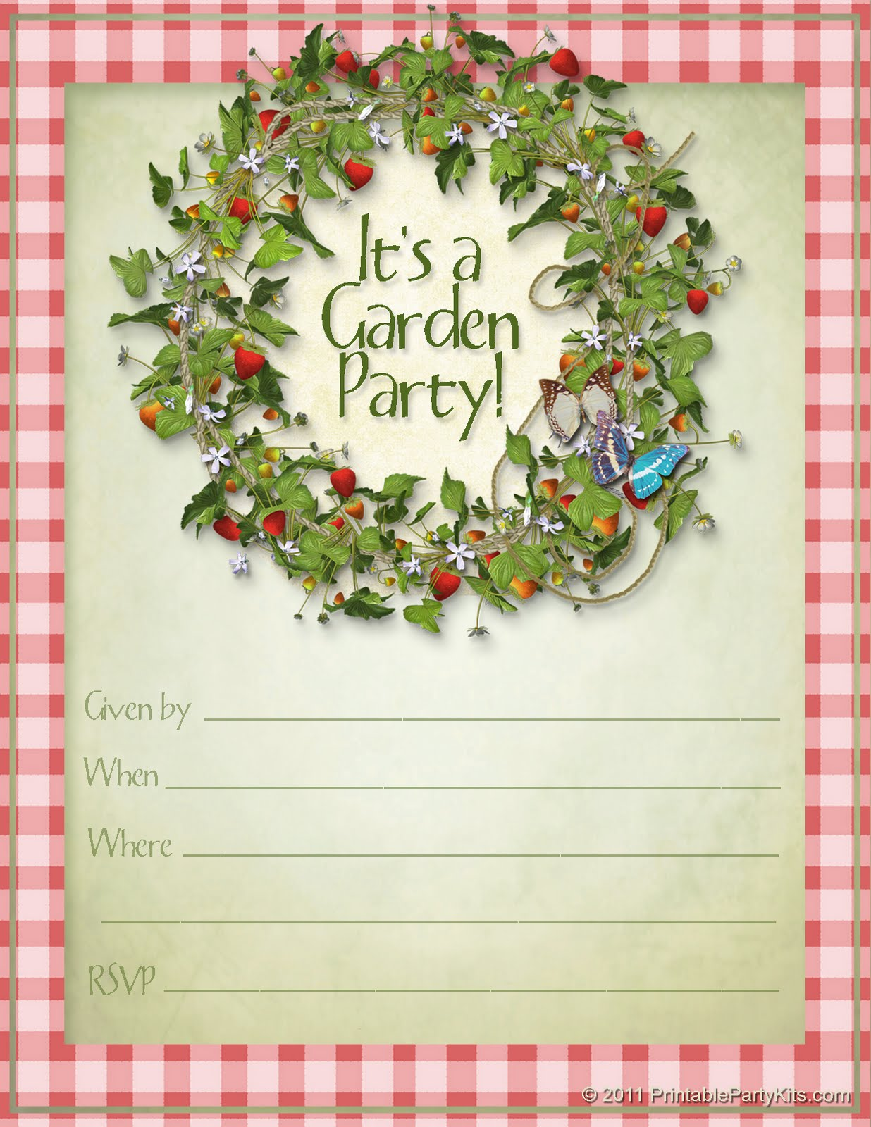 5 Images of Printable Summer Garden Sign