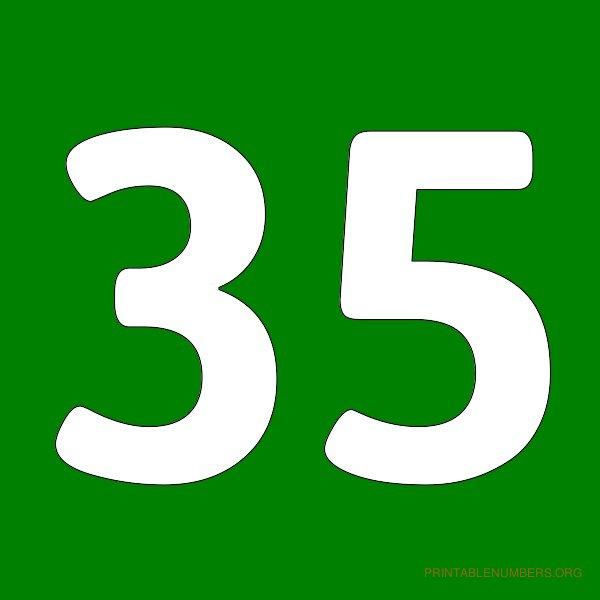 9 Best Images Of Printable Number 35 Printable Numbers 1