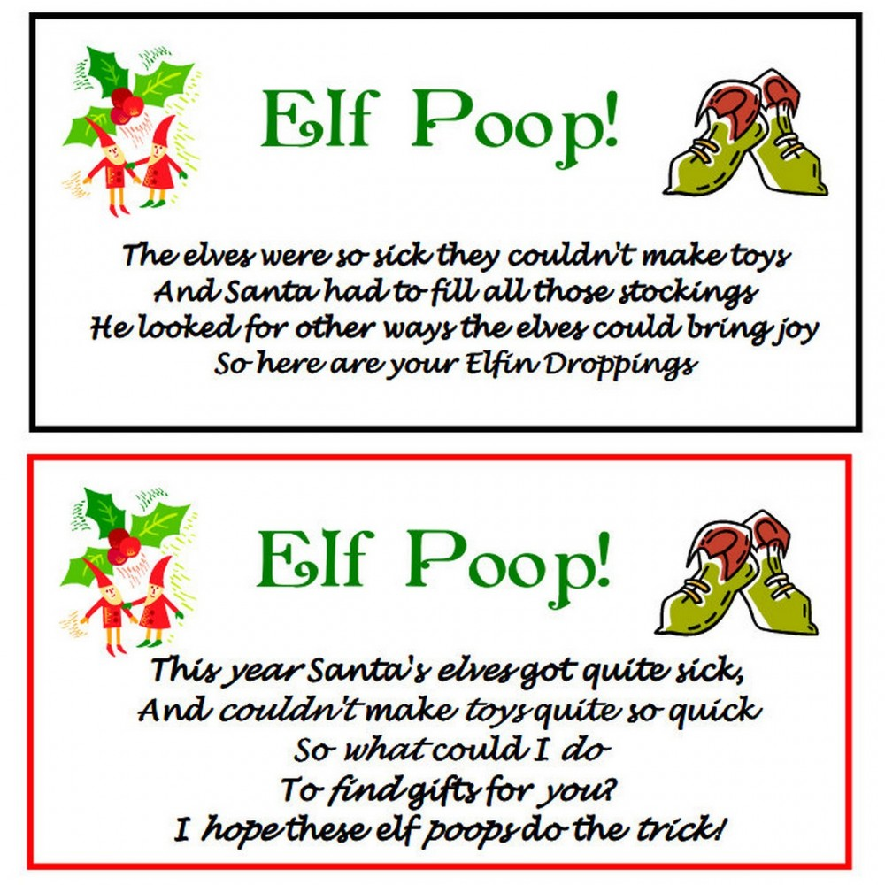 6 Best Images of Elf Poop Tag Printable - Grinch Poop Poem ...
