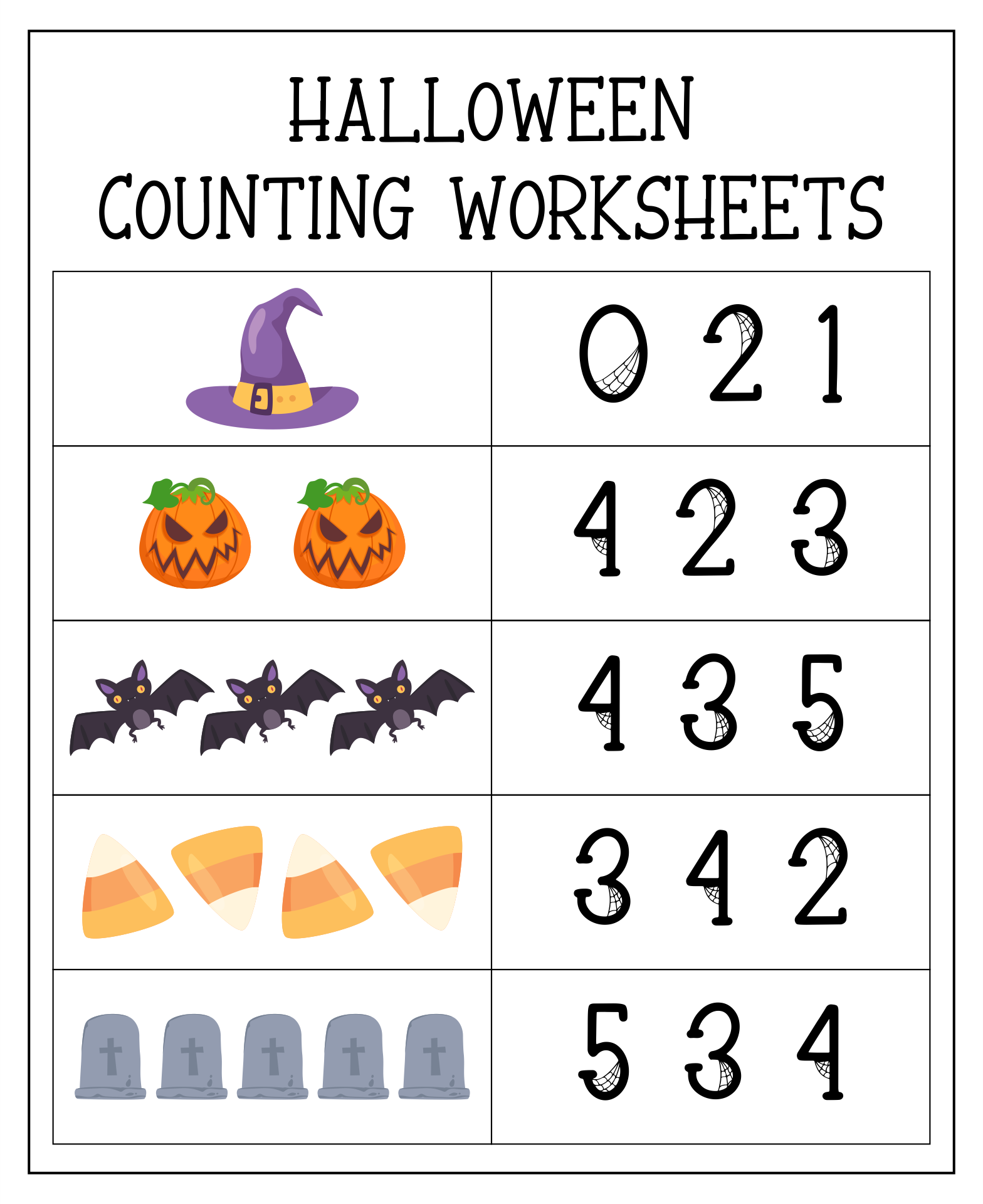 5 Images of Printable Halloween Math Games