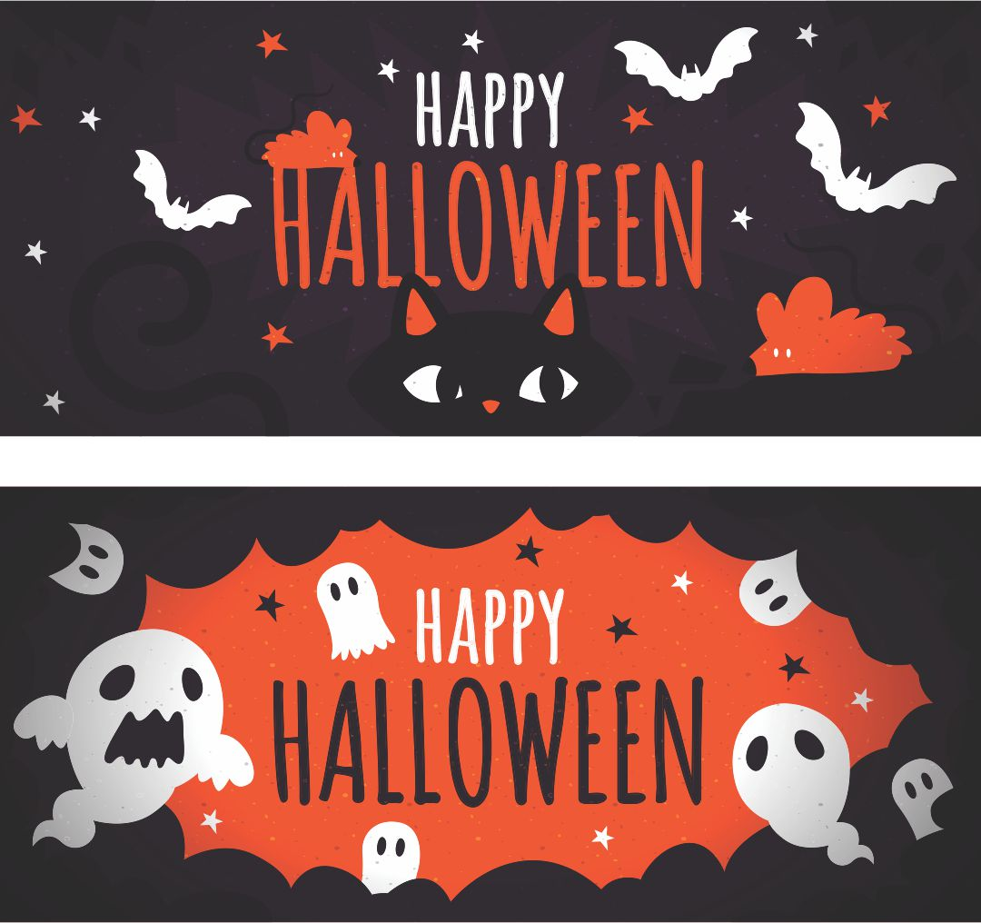 4 Images of Movie Halloween Printable Banners