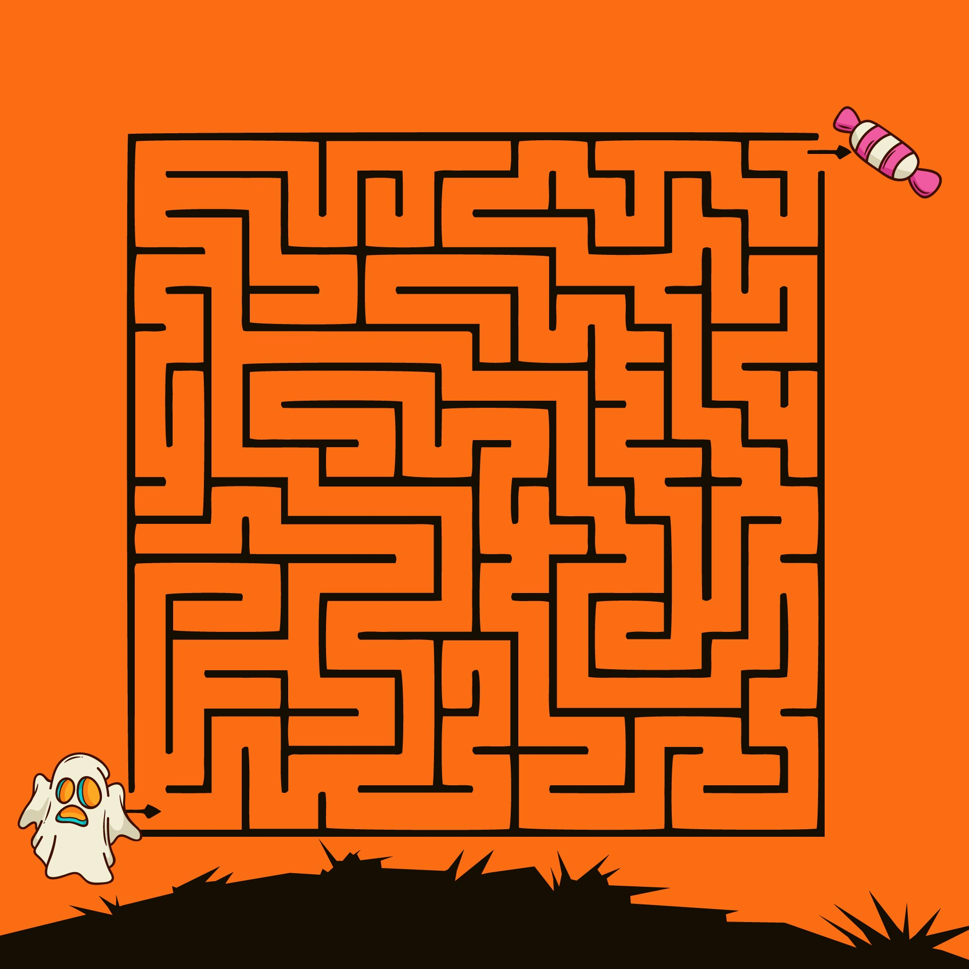 4 Best Images Of Scary Halloween Mazes Printable Haunted