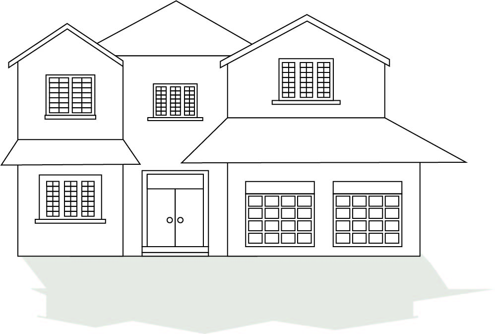 House Outline Coloring Page