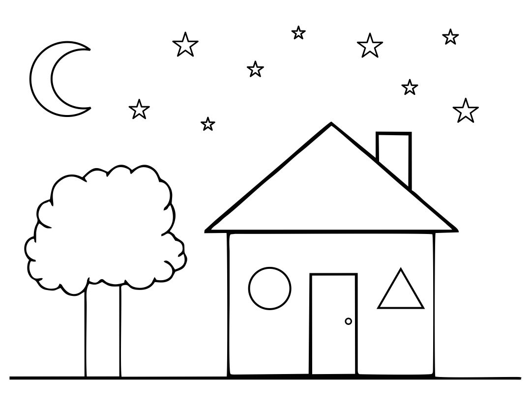 House Shape Coloring Page