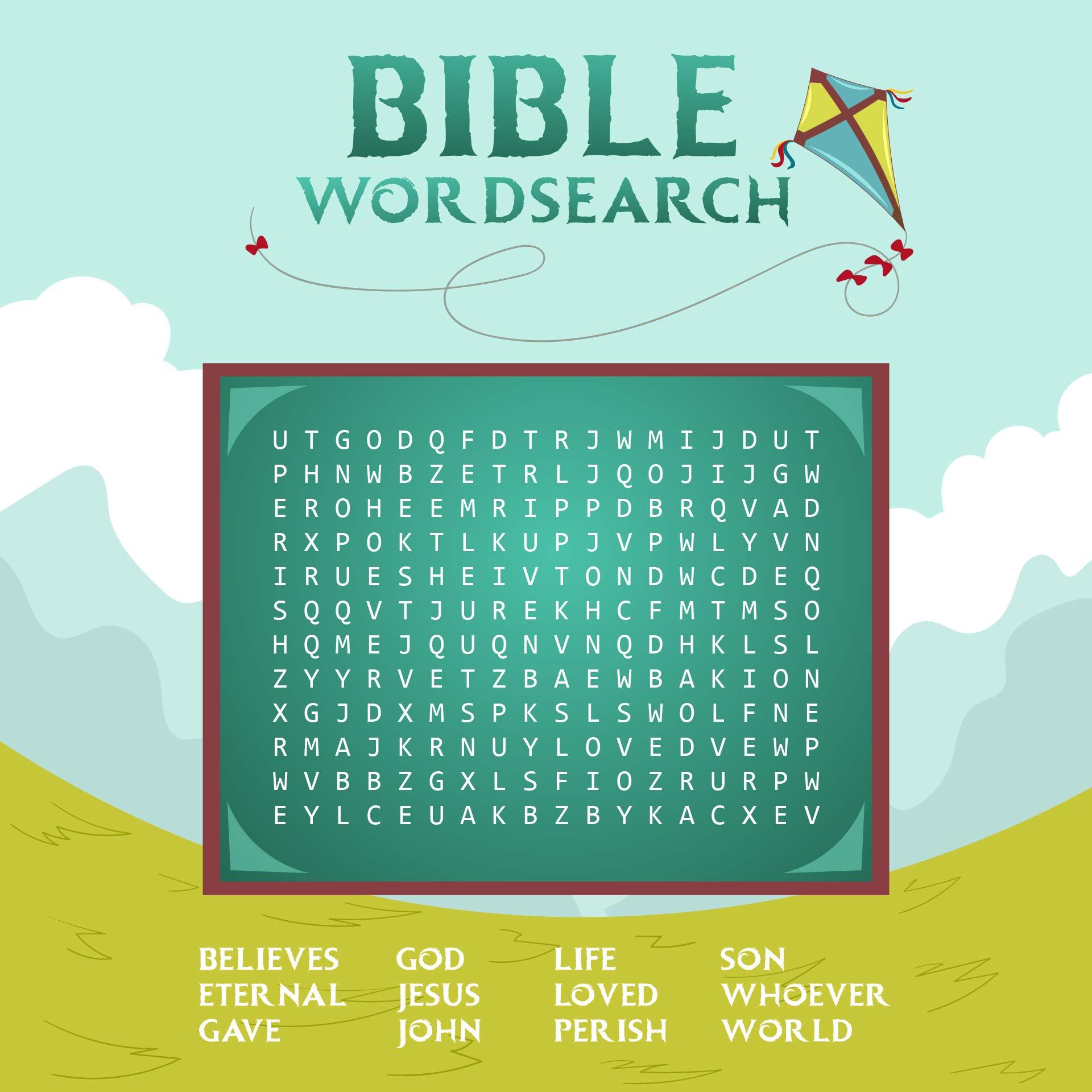Kids Bible Word Search Game
