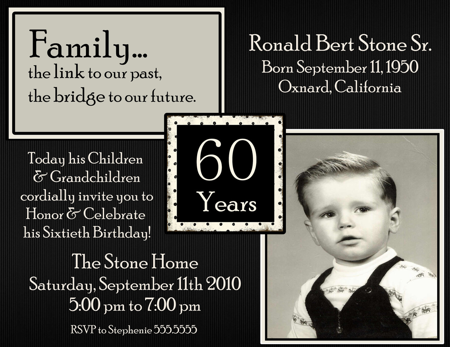 4 Images of 60th Birthday Invitations Printable