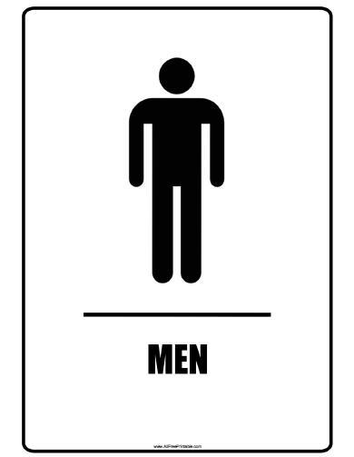 Men Bathroom Sign