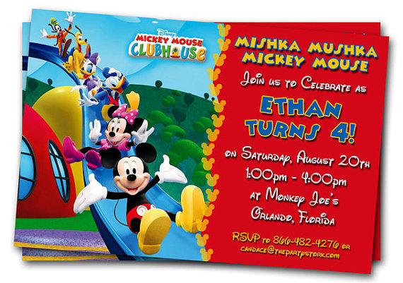 Mickey Mouse Clubhouse Birthday Invitation Printable