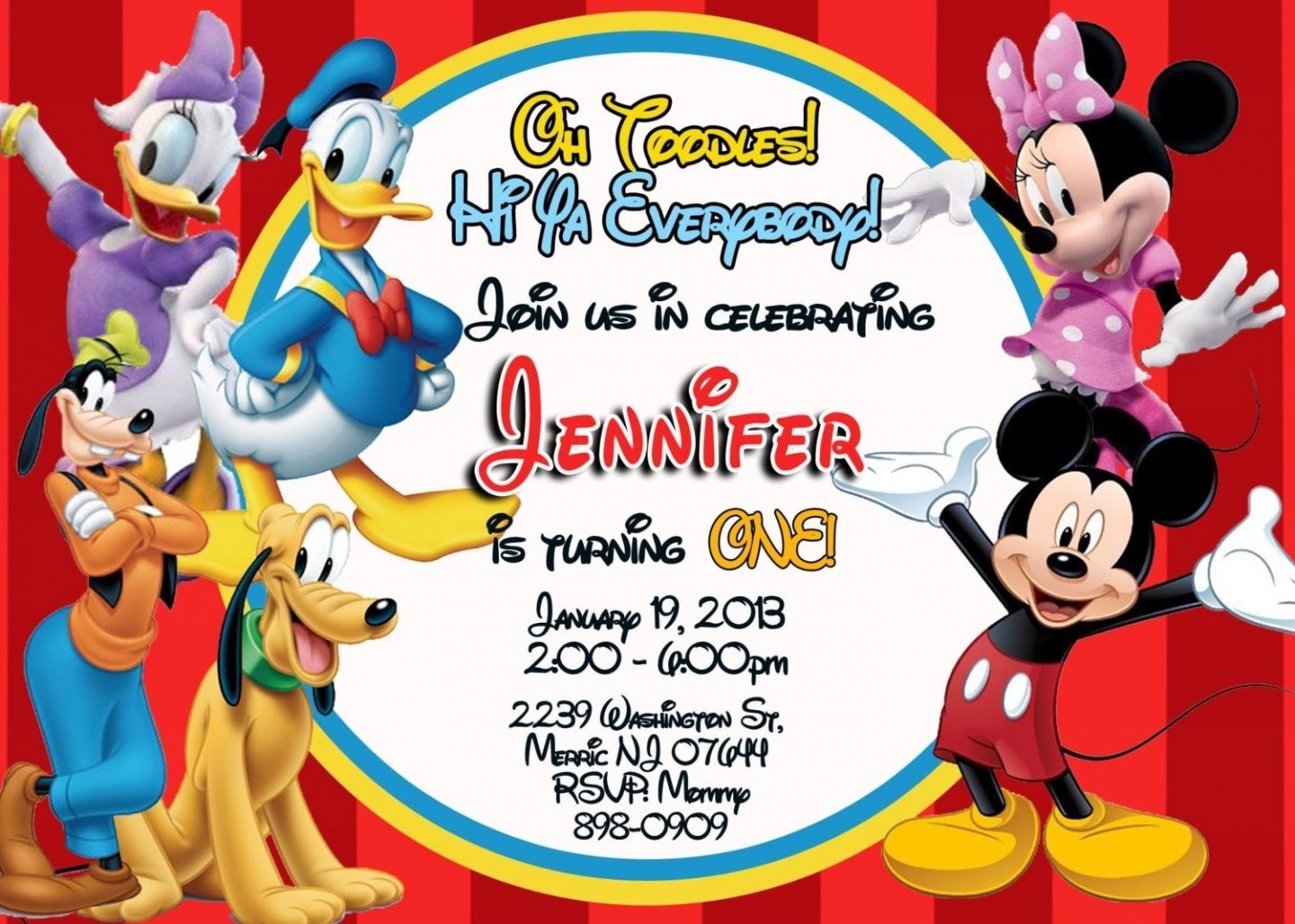 6 Best Images of Mickey Mouse Clubhouse Invitations ...