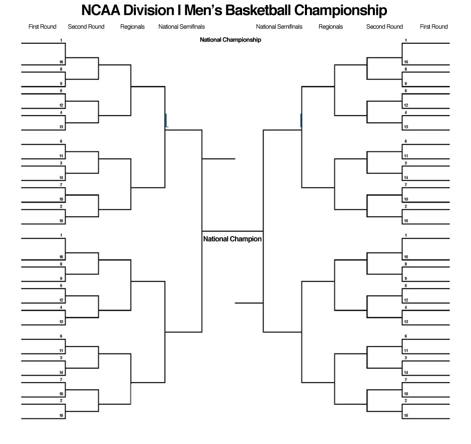 6 Images of Printable Blank NCAA Tournament Bracket