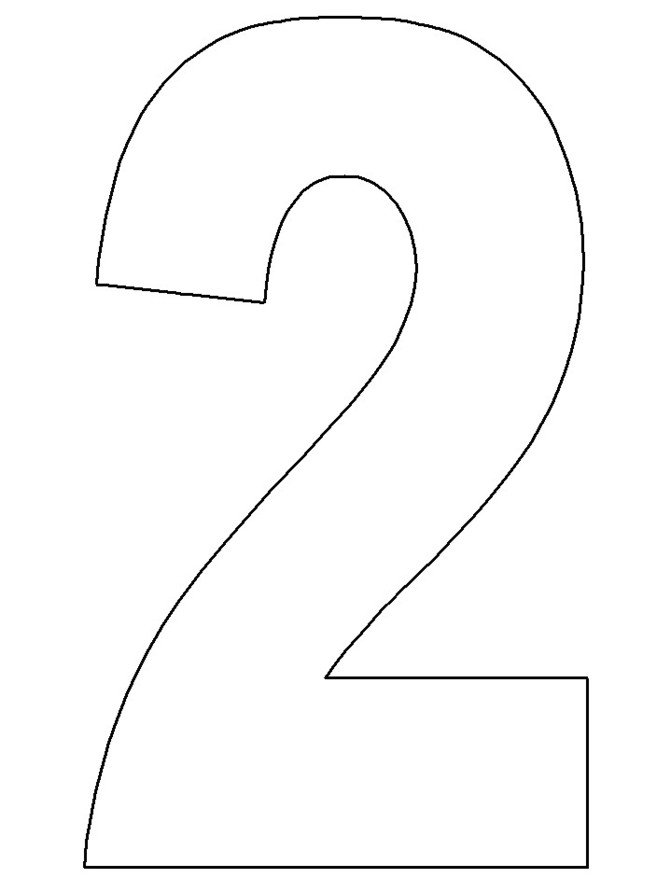 7 Images of Two Printable Number Template