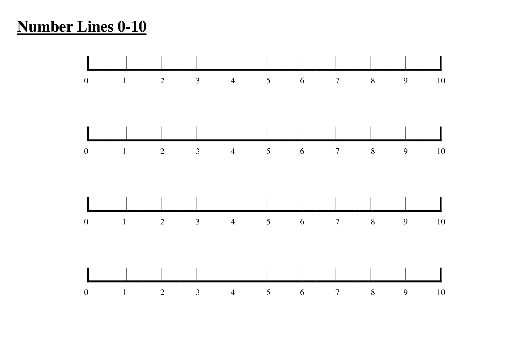 Worksheet Number Line Printable printable 0 10 number line work calendar april calendar