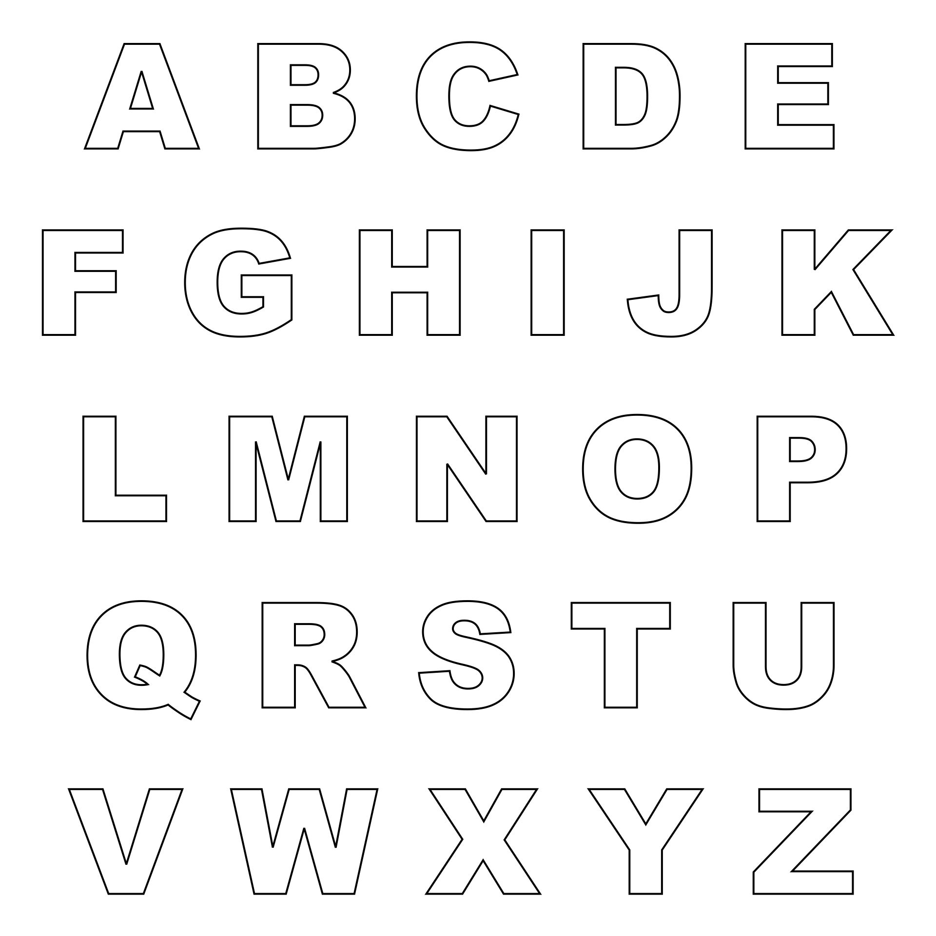 alphabet letter templates 6 best images of printable alphabet letters to cut small 20432