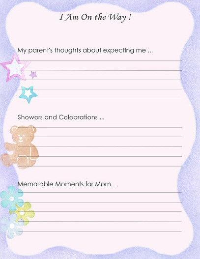 8 Images of Free Printable Baby Scrapbook Pages