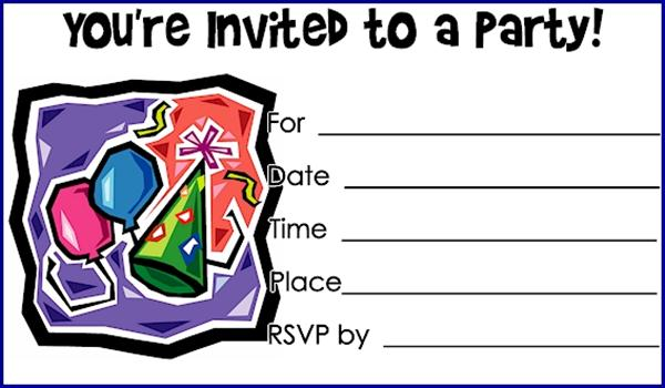 Birthday Invitations Printable – Print out Birthday Invitations