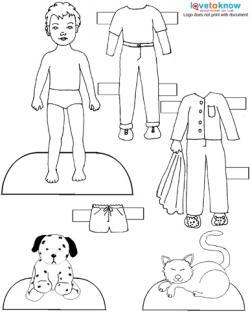 printable boy paper doll clothes - Paper Doll Clothes Coloring Pages