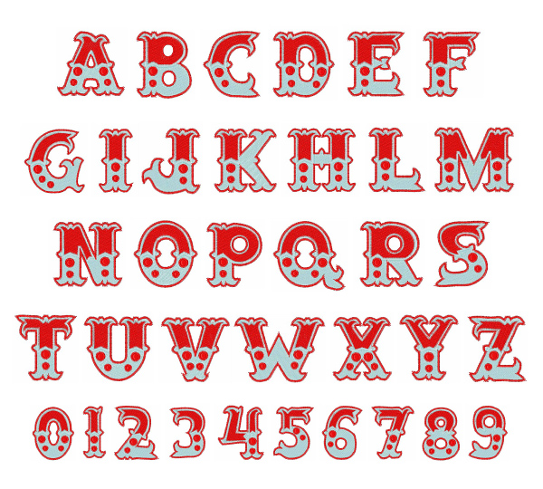 Printable Circus Font Numbers